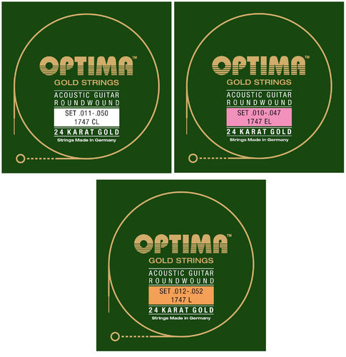 OPTIMA Gold Strings 1747 - 24 Karat Gold Plated